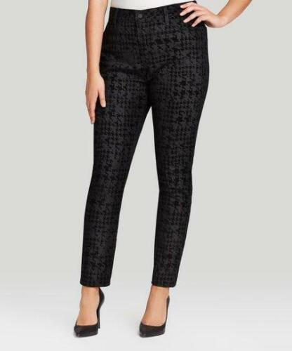 NWT NYDJ Not Your Daughters Jeans Black HOUNDSTOOTH Leggings $140 Plus Size