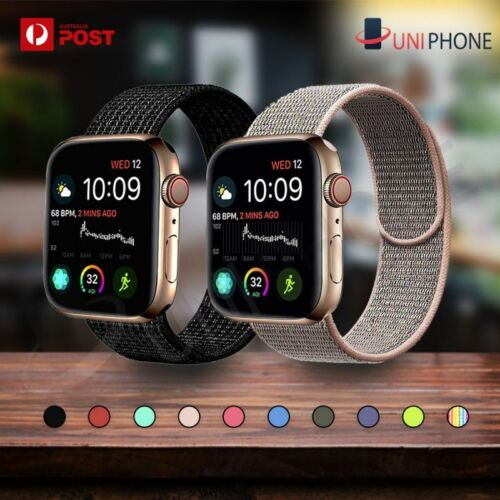 Sport Nylon Woven Loop Strap iWatch Band 38 42 for Apple Watch Series 5 4 3 2 1 <br/> 【💲Money Back Guarantee⚡Sameday Dispatch🐨Sydney Stock】