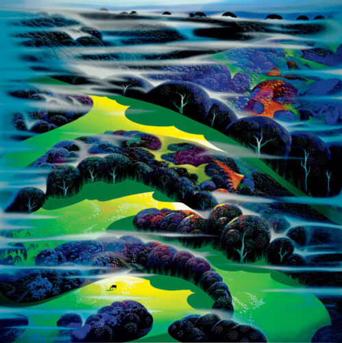 """Eyvind Earle """"I WANDERED OVER THE FIELDS"""" 1996 Hand signed numbered Serigraph"""