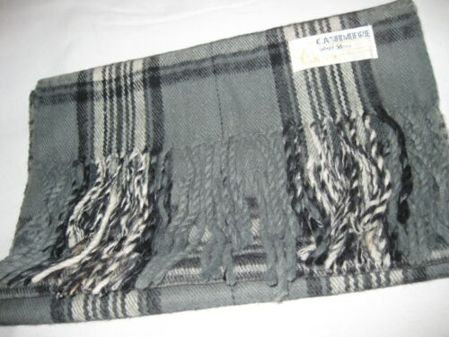 Vintage Royal Rossi, Plaid Scarf. 100% Cashmere.