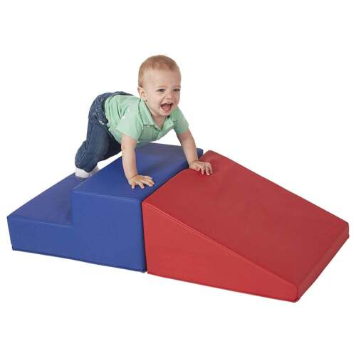 Large Baby Toddler Soft Block Playset Step n Slide Foam Play Structure 2pcs