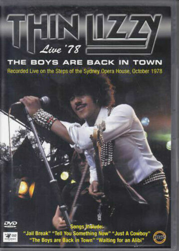 THIN LIZZY - THE BOYS ARE BACK IN TOWN LIVE '78 very good condition dvd t33