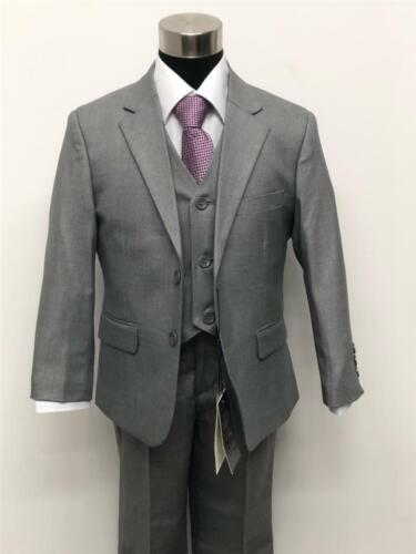 Boy's Formal Grey Suit 5PC Wedding page boy *Size 2 - 13 years old