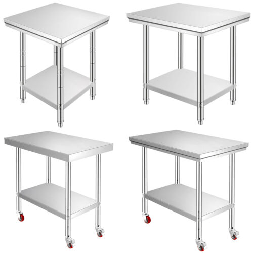 Commercial Catering Kitchen Work Stainless Steel Bench Table All Sizes
