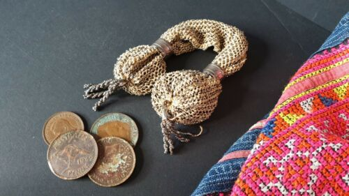 Old Victorian Coin Purse with Old Australian Coins …beautiful collection set