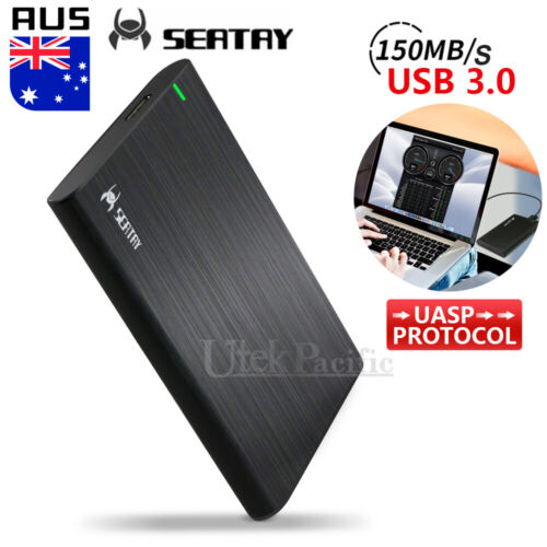 "Hard Drive Enclosure USB 3.0 To SATA 2.5"" External HDD SSD Case Cover Disk Slim"