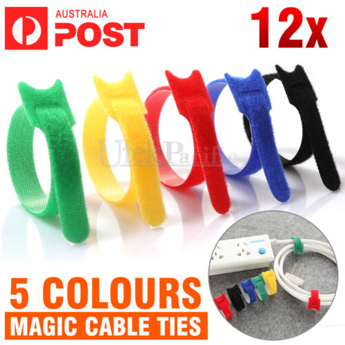 Adjustable Cable Clips Straps Adhesive Cord Management Wire Organizer AU
