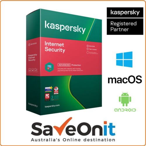 Kaspersky Internet Security 2021 3 PC Device 1 Year Android Mac Windows Email