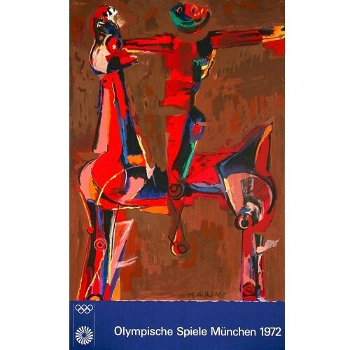 """""""Olympic 20"""" Color Lithograph by Marino Marini 40""""x25"""""""