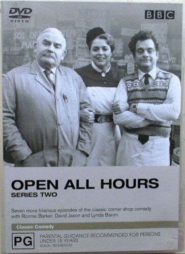 OPEN ALL HOURS DVD - SERIES 2 - 7 EPISODES - IN EXCELLENT CONDITION
