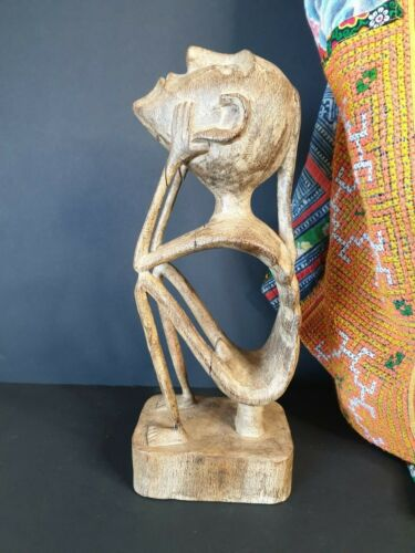 Old Borneo Carved Wooden Male Figure …beautiful collection piece