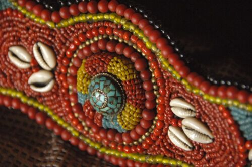 Old Tibetan Traditional Nomadic Beaded Belt …beautiful Red Coral, turquoise & am