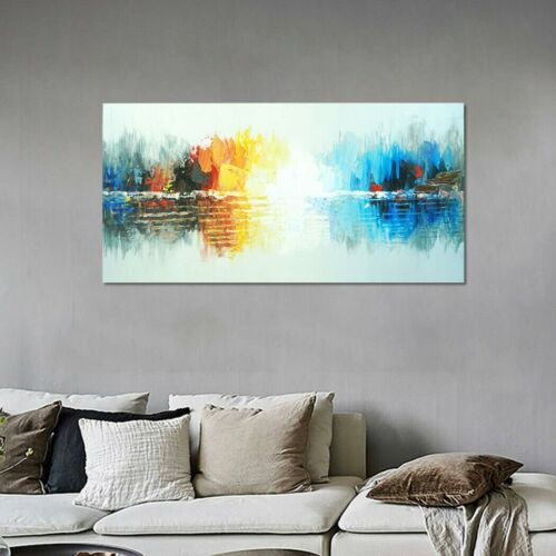 Abstract Handmade Art Canvas Oil Painting Wall Home Decor - Framed Reflection