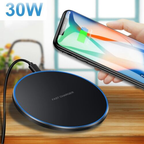 US Metal 15W Qi Wireless Charger Charging Pad Mat For iPhone 8 X 8Plus XR XS Max
