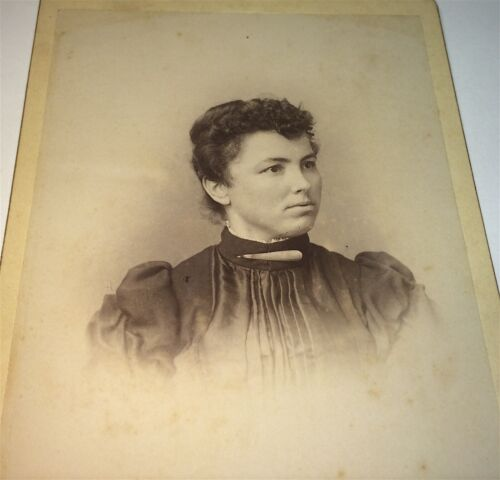 Rare Antique ID'd Western American Young Lady! San Francisco, CA Cabinet Photo!
