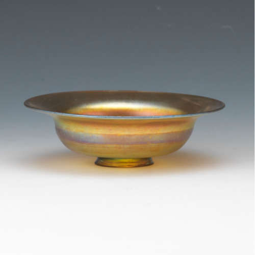 Rare Tiffany Favrile M 2739 Footed Bowl, Original Tags, Circa 1900's