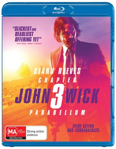 John Wick Chapter 3 Parabellum Blu-ray Region B NEW // PRE-ORDER for 18/09/2019 <br/> *** PRE-ORDER *** EXPECTED DELIVERY DATE 18/09/2019 ***