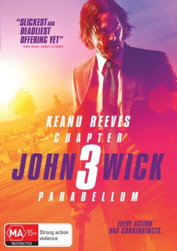 John Wick Chapter 3 Parabellum DVD Region 4 NEW // PRE-ORDER for 18/09/2019 <br/> *** PRE-ORDER *** EXPECTED DELIVERY DATE 18/09/2019 ***