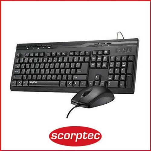 Rapoo NX1710 Black Wired Keyboard & Optical Mouse Combo