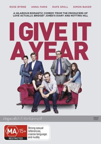 I Give It a Year DVD Region 4 NEW