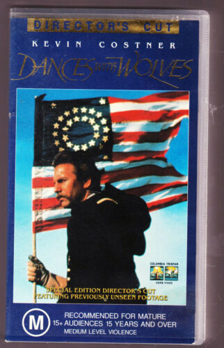DANCES WITH WOLVES Special Expanded Edition VHS Video Tapes Box Set of 2