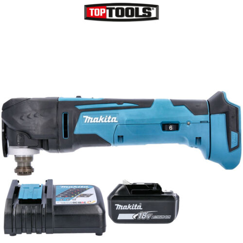 Charger /& Cube Bag Makita DTM51Z 18v Multi-Tool Keyless with 2 x 5Ah Batteries