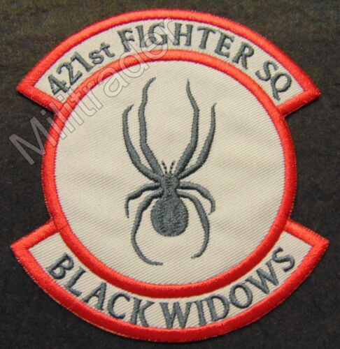 United States Air Force (USAF) 421st Fighter Squadron Patch (Black Widows)Other Militaria - 135