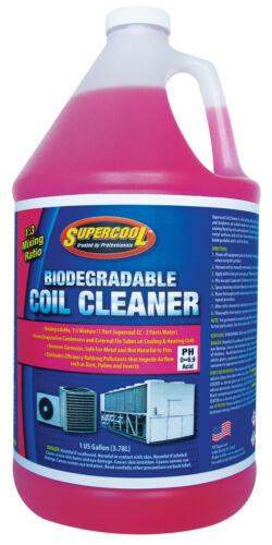 SuperCool 51533 Acid Coil Cleaner 1 Gal Cleans Evaporation Condensers, Fin Tubes