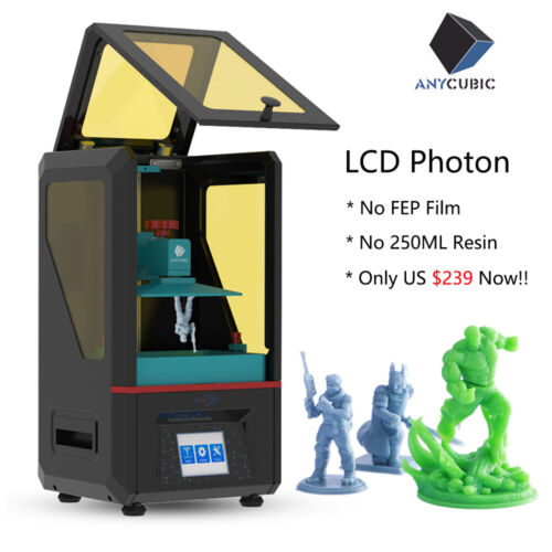 US ANYCUBIC Photon LCD-Based SLA 3D Printer UV Resin Fast Slicing Off Line Print