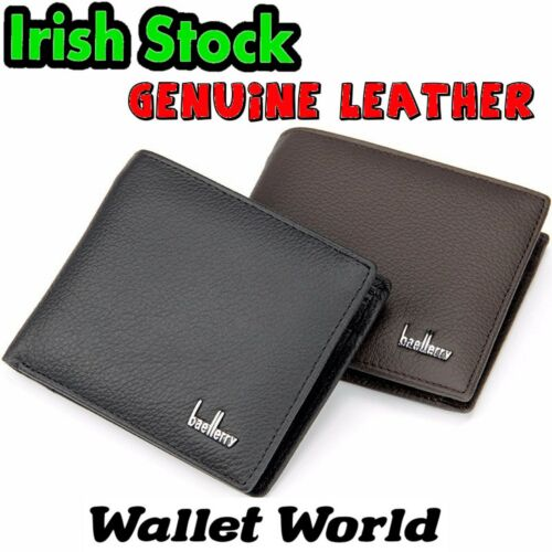 Genuine Leather Quality Wallet Men Men's Notes Perfect Gift Black Brown Coin