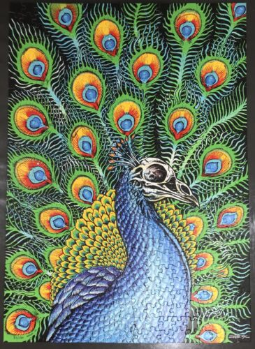 Emek Peacock Screen Printed Puzzle Print Signed & Numbered Faded Line Sold Out