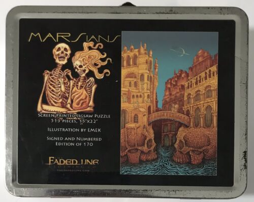 Emek MARSians Screen Printed Puzzle Print Signed Numbered Faded Line MARS VOLTA