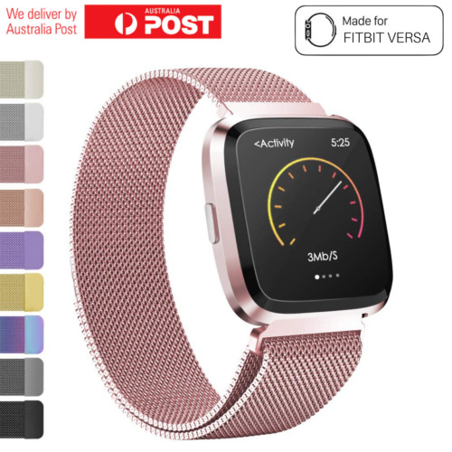 Fitbit Versa Watch Band Stainless Steel Milanese Loop Replacement Wrist Strap <br/> Sydney Stock✔Quality Product✔Money Back Guarantee✔