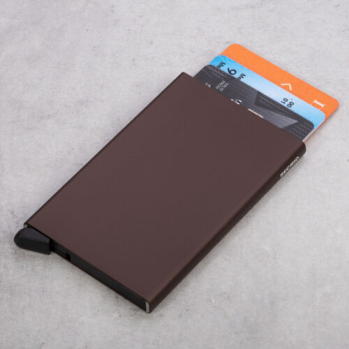 NEW Secrid Aluminium Card Protector Brown