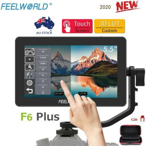 """Feelworld F6 Plus 5.5"""" 3D LUT Type-C Touch Screen Camera Video Field Monitor"""