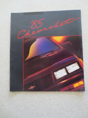 1985 Chevrolet range of cars advertising booklet - Chevy USA ----