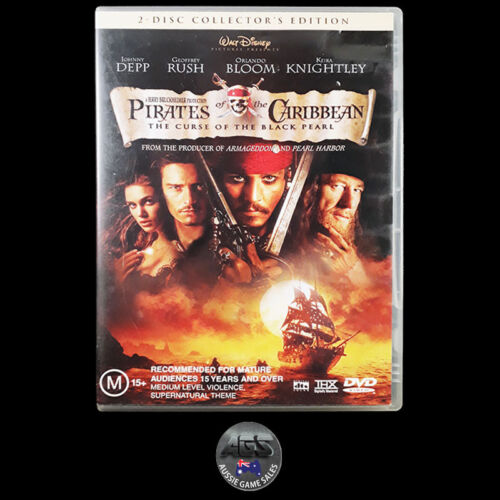 Pirates of the Caribbean: The Curse of the Black Pearl (DVD) R4 - Johnny Depp