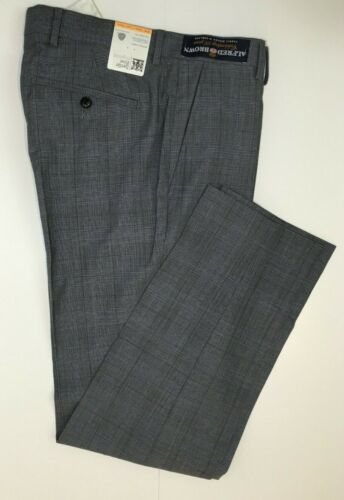 M&S SAVILE ROW INSPIRED Checked Tailored Fit Wool Trousers ~ Grey ~ PRP £99