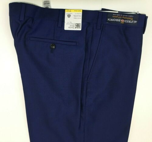 M&S SAVILE ROW INSPIRED  Blue Tailored Fit Wool Trousers ~ PRP £119