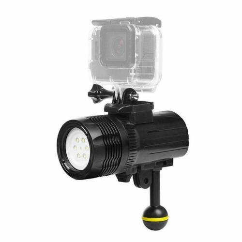 SHOOT 60M Waterproof Diving Torch for GoPro HERO 8 7 6 5 4 3+ 3 Session HERO2018