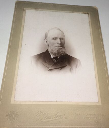Rare Antique Southern American Old Man, Louisville, Kentucky Cabinet Photo! US!