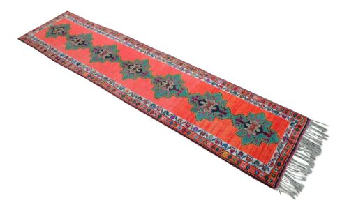 35″ x 144″ Brilliant Kurdish Herki Tribal Runner Sorbus Kitchen Rug 2′11″ x 12′