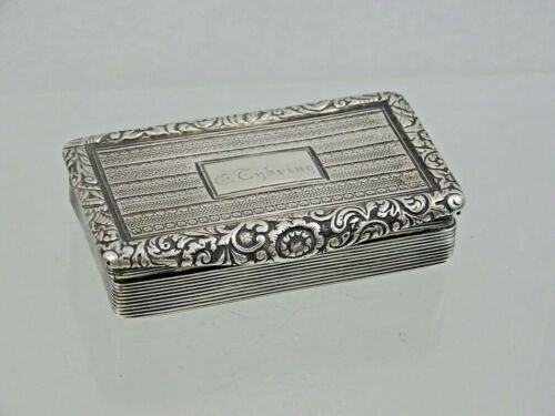 ANTIQUE SILVER SNUFF PILL BOX EUROPEAN 1851 SOLD AS IS FOR RESTORATION sterling