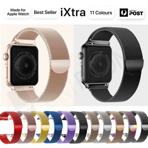 【Apple watch】Series 5 4 3 2 1 Milanese Magnetic Stainless Loop Strap Band iwatch