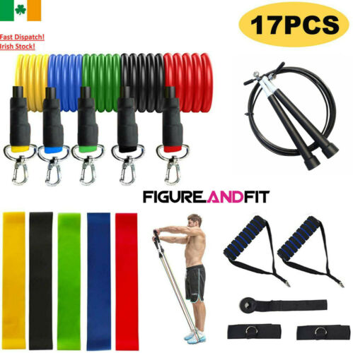 Resistance Bands Exercise Loop Crossfit Strength Weight Training Fitness 5pcs <br/> Premium 5 Level Resistance Bands Set ✅Irish Stock