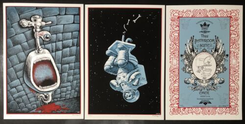 Emek Posters The Bathroom Suite Set of 3 Prints Sold Out Toilet Edition Mint
