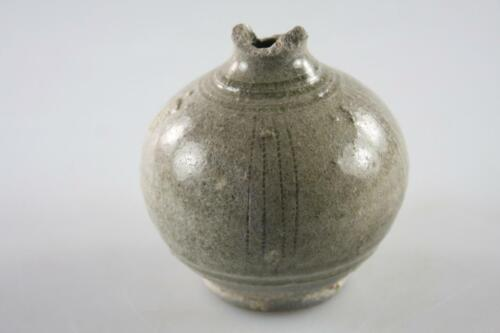 ANTIQUE KHMER CAMBODIA CERAMIC SMALL POT 13TH CENTURY