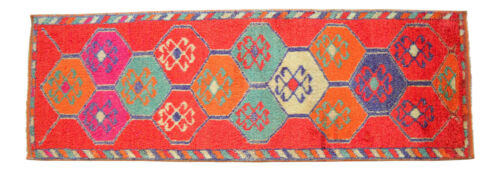 """4x10 Rug Vintage Oushak Runner Rug Hand Knotted Hallway Decor actual 42"""" x 124"""""""