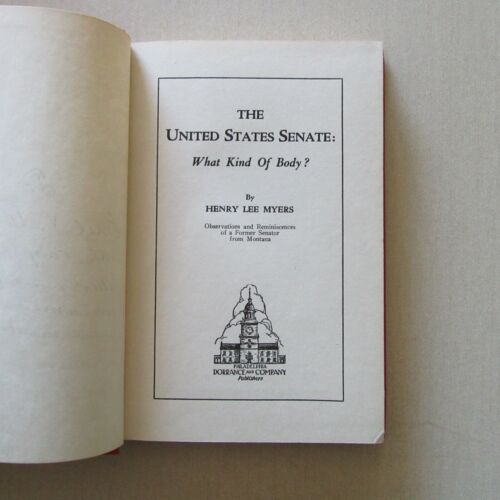 The United States Senate by Henry Lee Myers - Inscribed/ Signed by Myers, 1939
