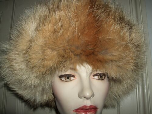 CAPPELLO COLBACCO COYOTE HAT HUT PELLICCIA FUR VOLPE FOX UNISEX 58-59 UOMO AVIAT